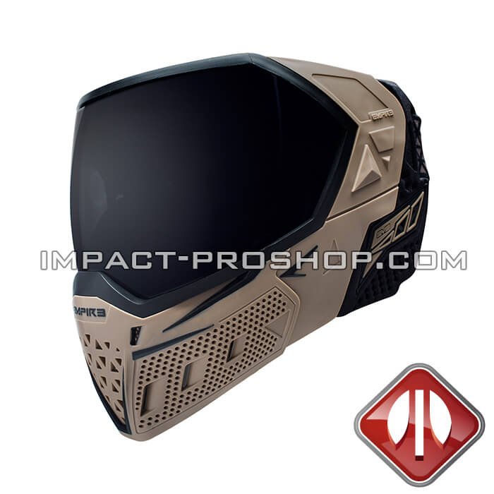 Empire evs thermal tan-black-paintball-mask