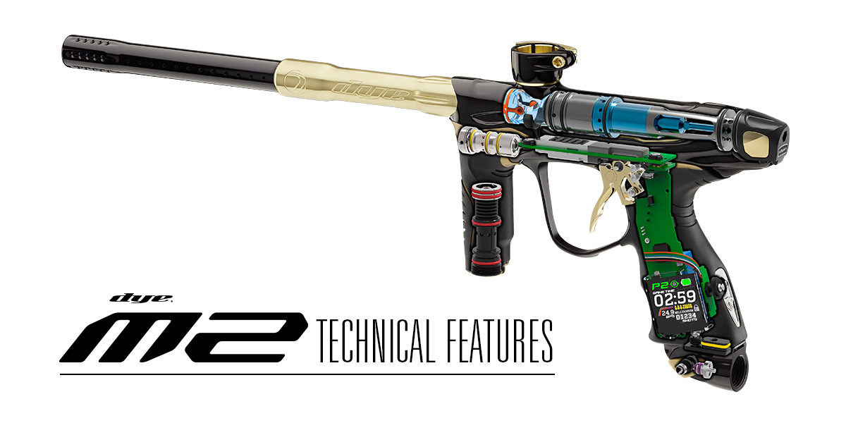 Learn more about the New Dye paintball Marker M2