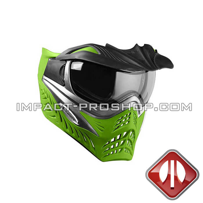 vforce grill se grey on lime paintball mask