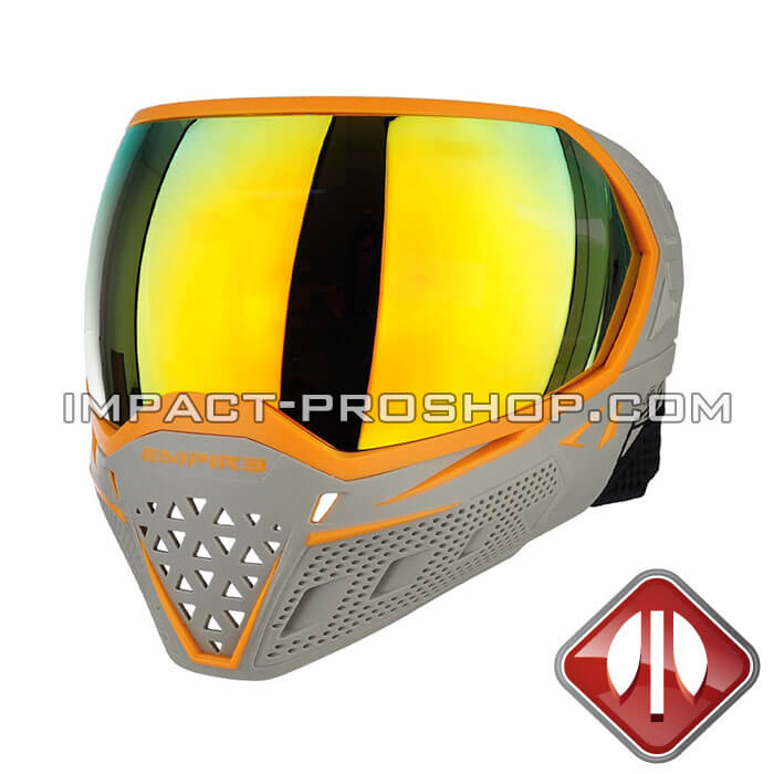 empire evs thermal ac dallas grey orange paintball mask