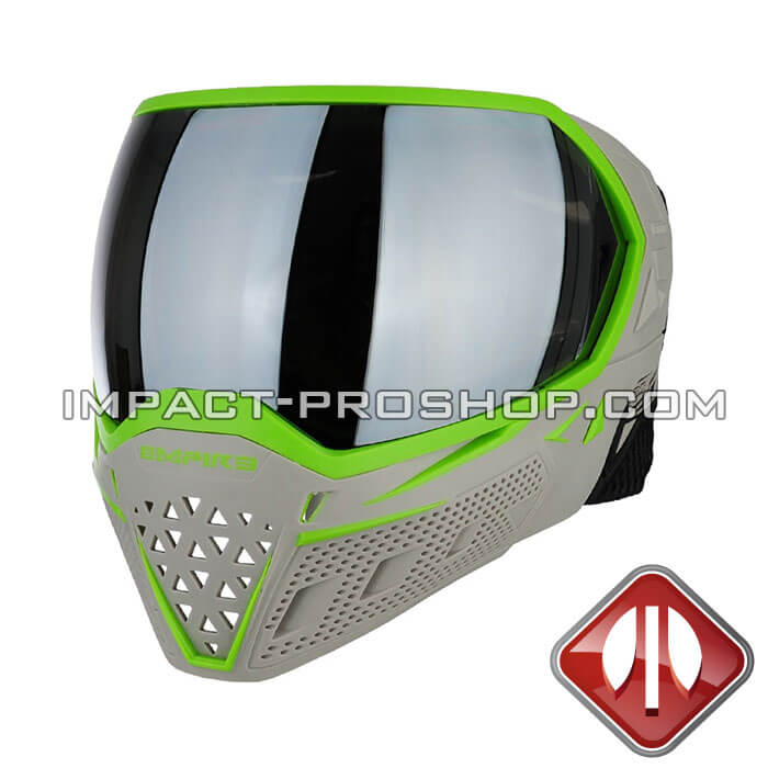 empire evs thermal elevation grey lime paintball mask