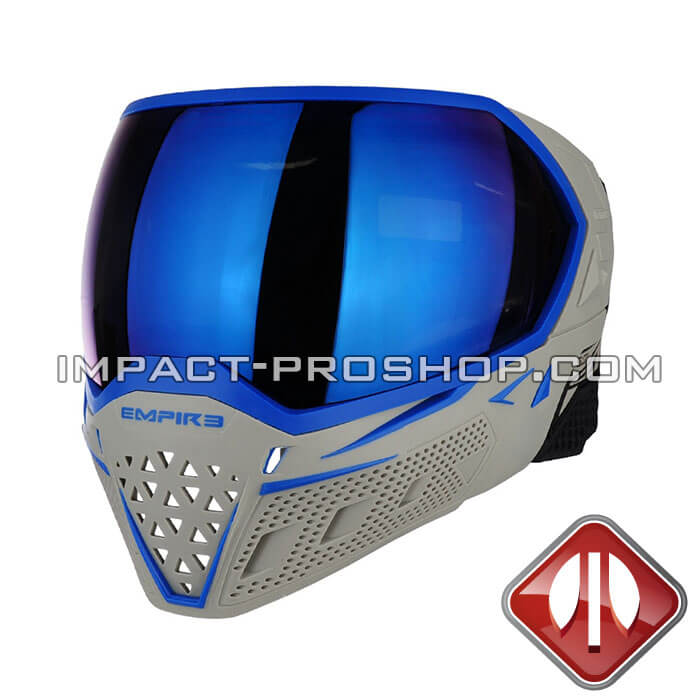 empire evs thermal ny extreme grey-blue paintball mask